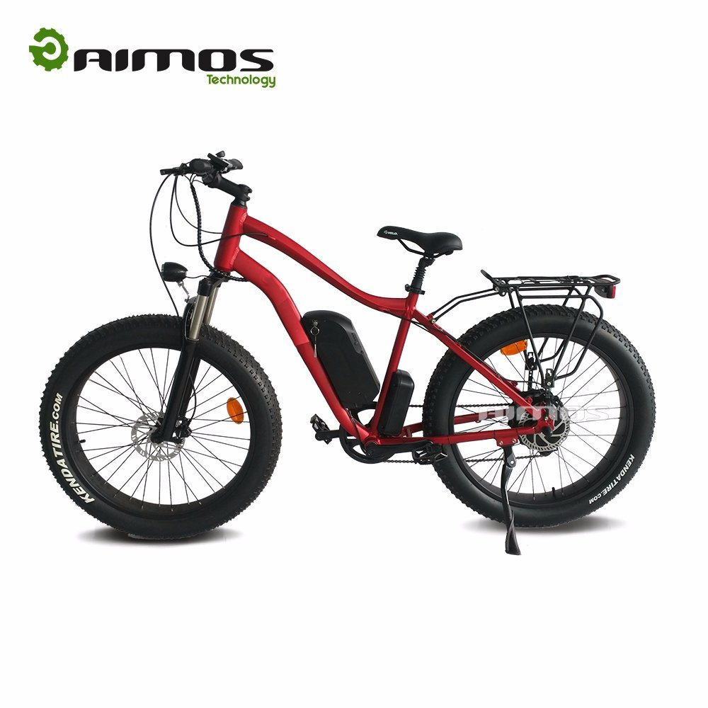 2017 Cheap Factory Price 26inch Fat Tire Mountain Electric Bike with Hydraulic Brake