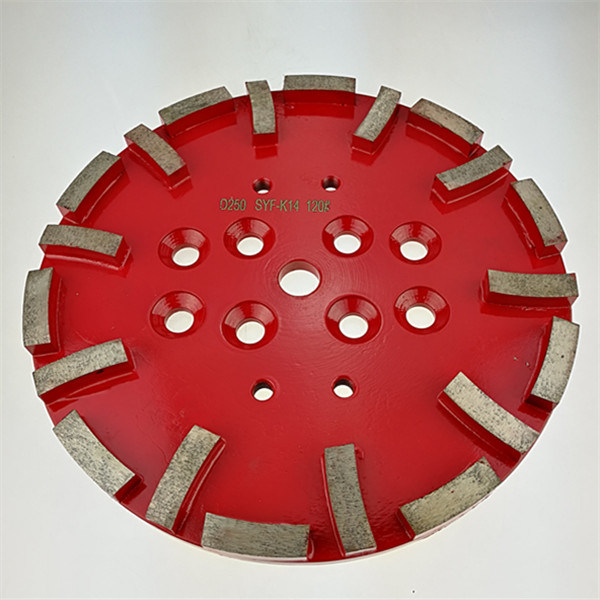 10 Inch 250mm Concrete Floor Diamond Grinding Disc Plate