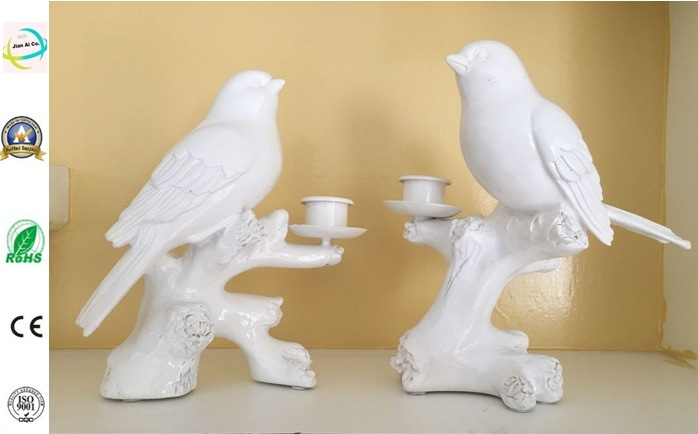 Polyresin Birds with Candle Holder Polyresin Home and Garden Decoration