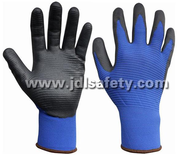 Special Structure Liner Glove of Foam Nitrile Coating (N1575BRF)