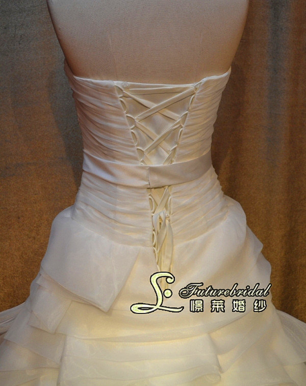 2014 New Style Organza Wedding Dress Gown and a-Line Wedding Gowns Brdal From Wedding Dresses Factory in China (JL1336)