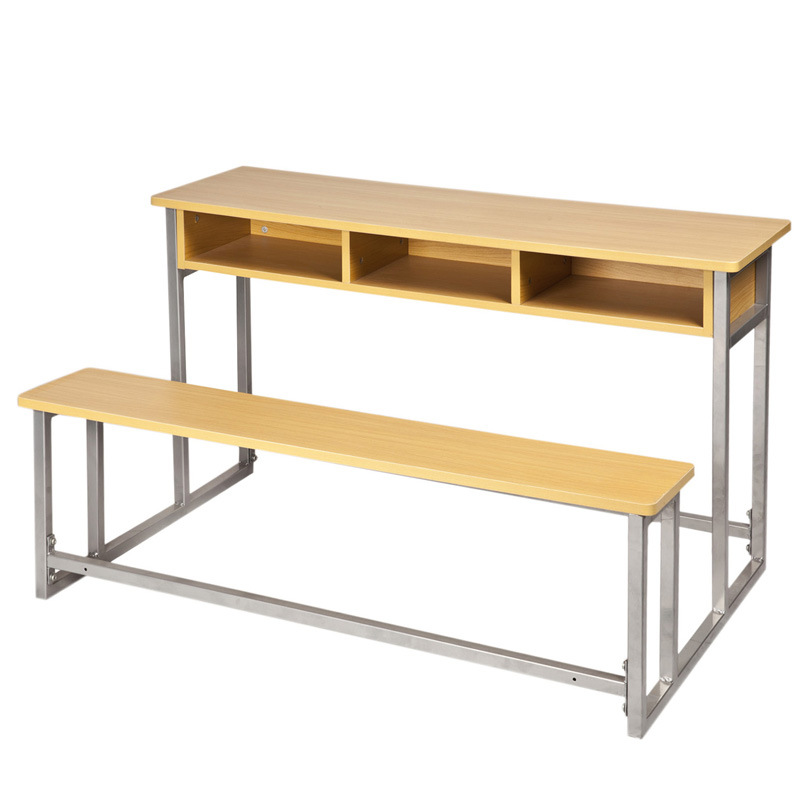 China Double Student Desk And Chair SF 67A 2 Photos