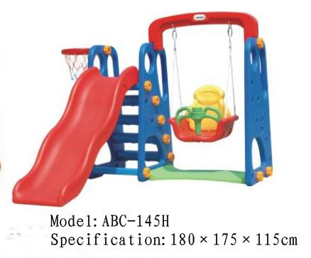 China Plastic Slide Swing Sets Abc 145h China