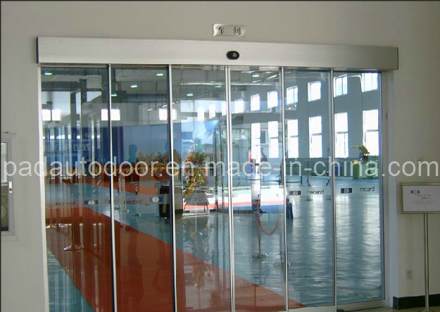 China commercial automatic telescopic sliding glass door