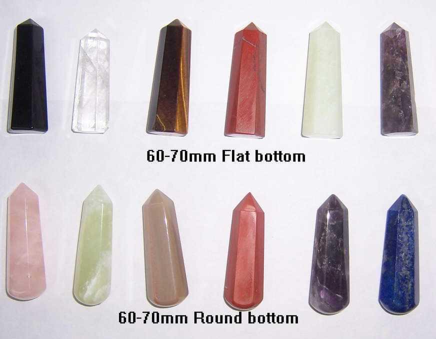 Semi Precious Stone Natural Crystal Rose Quartz Massage Point Wands