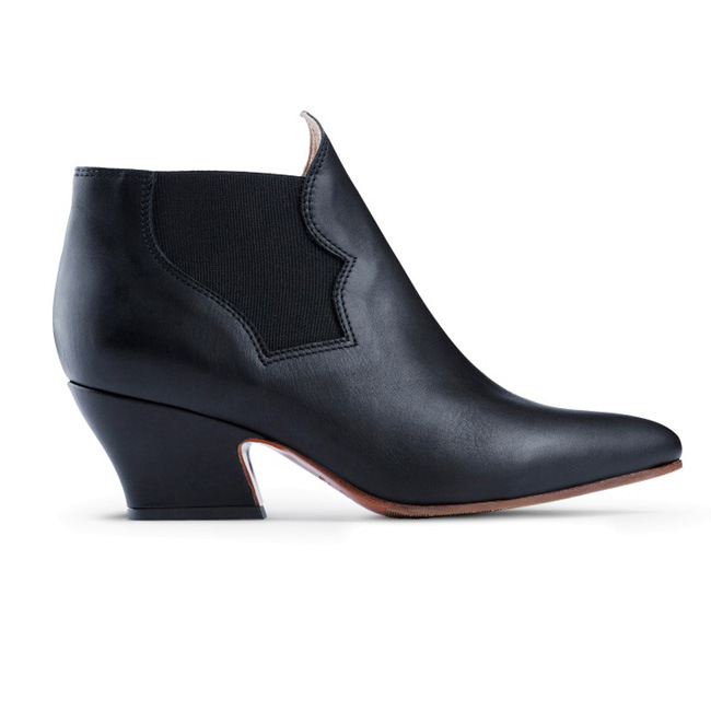 china lotoyo oem shoes thick heel ankle boot ltyk100026