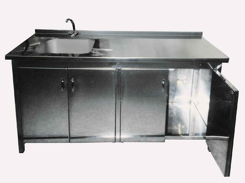 Cabinet With Sink PTCS 715 China Cabinet Stainless Steel Cabinet