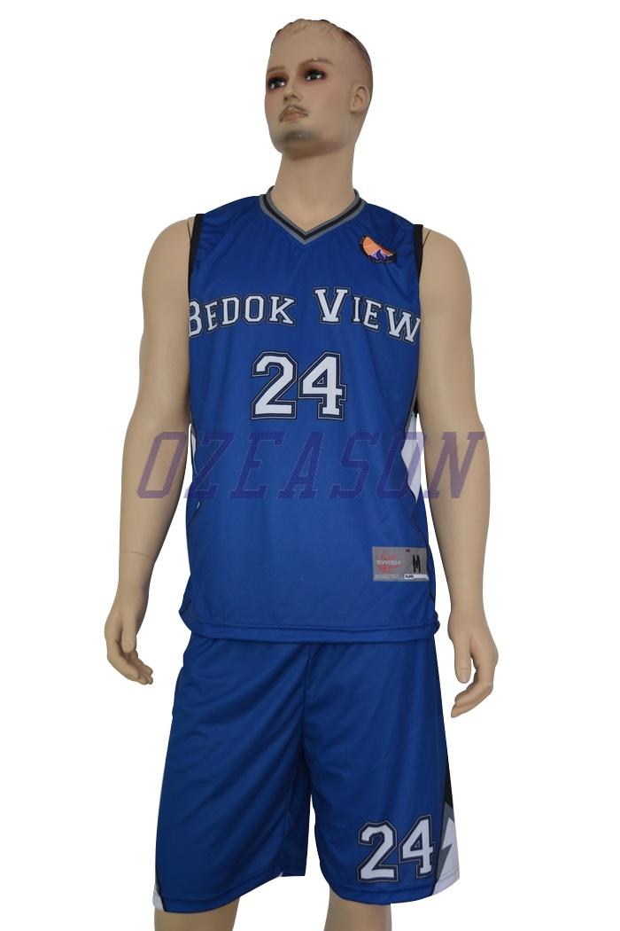 China Manufacturer Custom Reversible Sublimation Basketball Uniforms for Team (BK002)