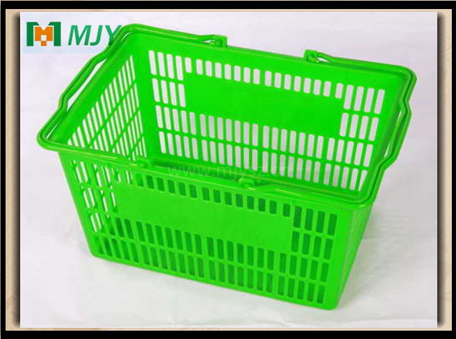 20 Liters Supermarket Plastic Hand Shopping Basket Mjy-Tb04