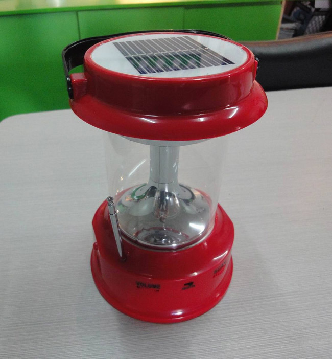 Portable Solar LED Rechargeable Camping Lantern with Multifunctions