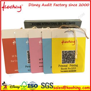 Top Factory Printing PP Paper Plastic Label Hang Tag