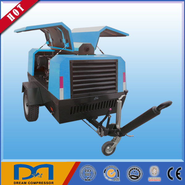 Portable Diesel Engine Rotary Screw Air Compressor for Mining Made in China