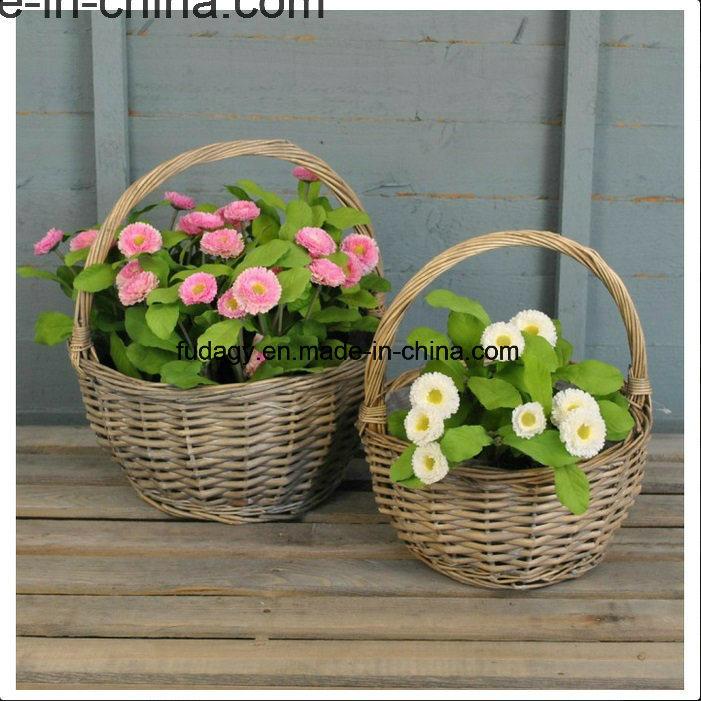 Natural Handmade Wicker Garden Basket