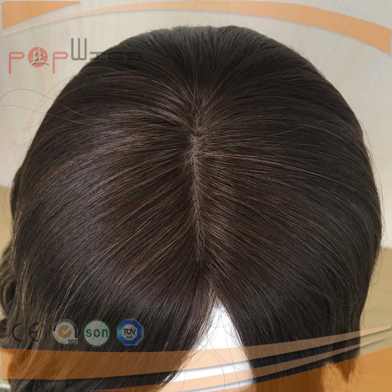PU Custom Silk Top Human Hair Women Wig (PPG-l-0658)