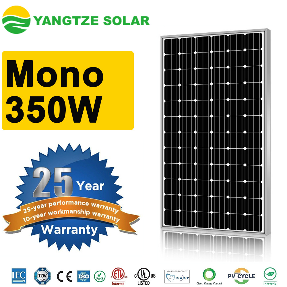 300W - 350W Monocrystalline Solar PV Cell Module Panels
