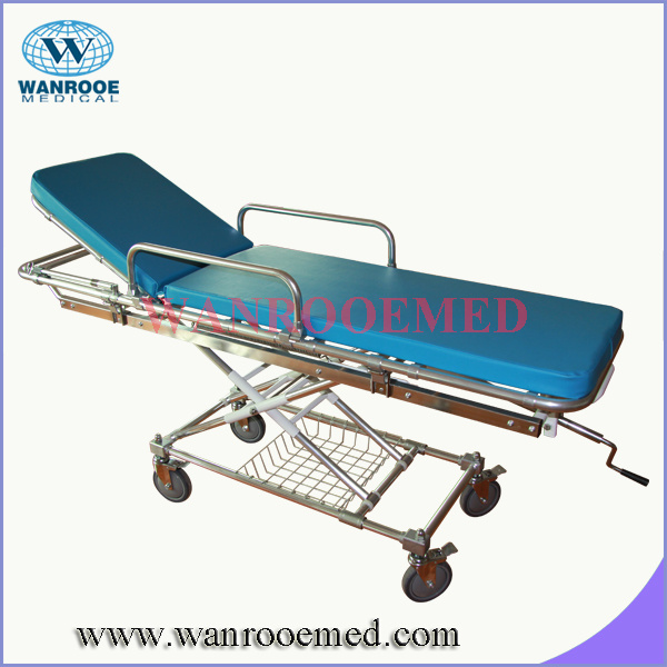 Ea-4A Hospital Patient Folding Emergency Bed with Transfusion Pole