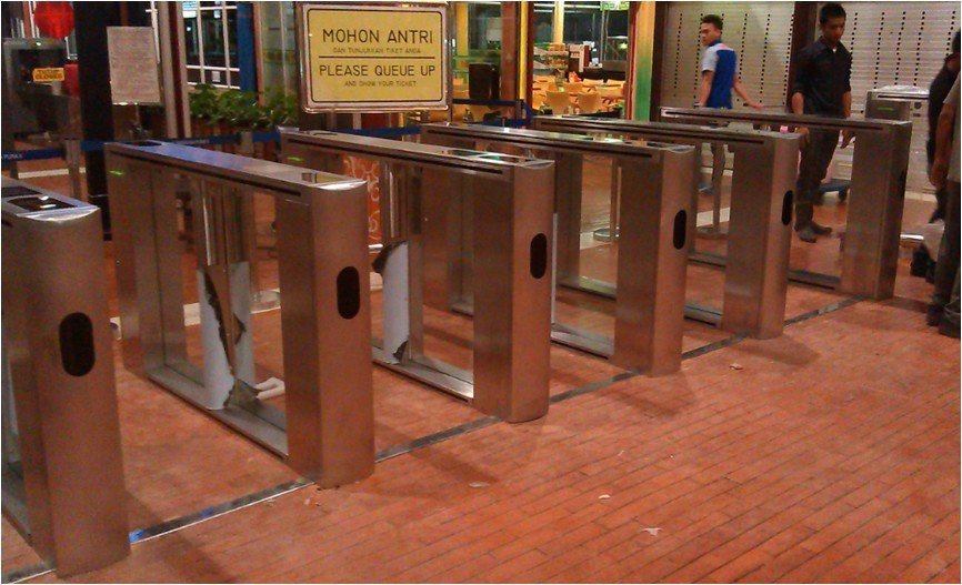 Security Pedestrian Speed Gate for Entry Control System