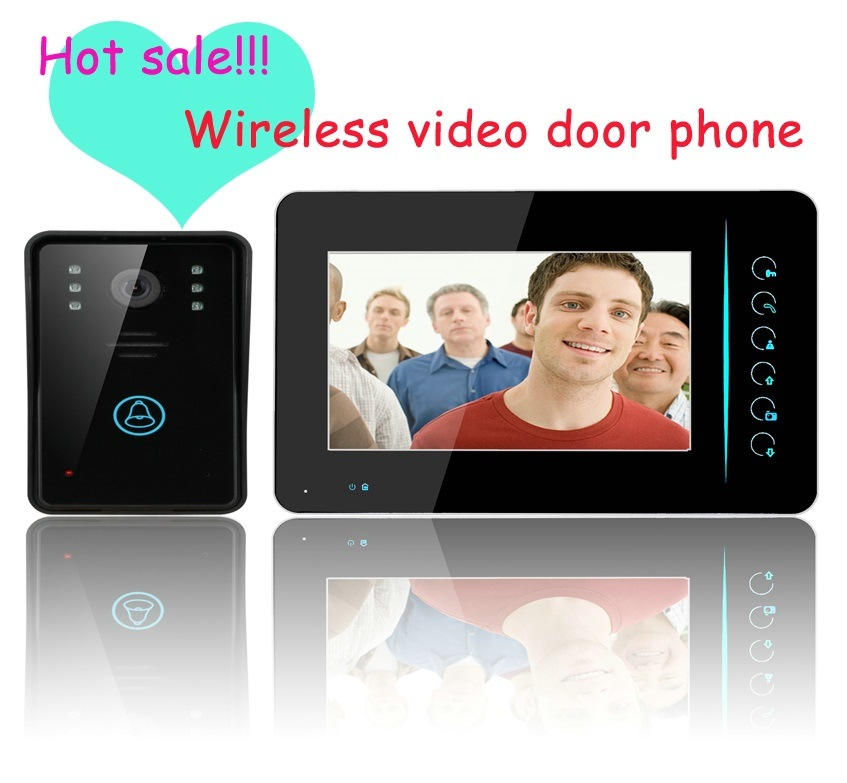"2.4G Wireless 7"" Monitor Video Door Phone Intercom Doorbell Home Security System"