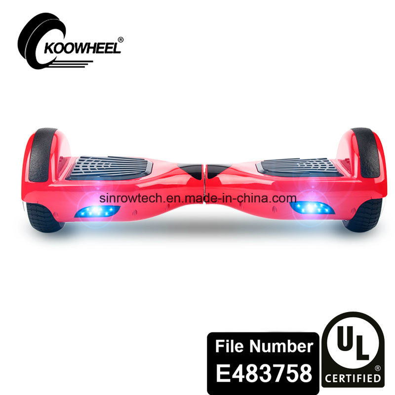 UL2272 Safe Certificate Koowheel 6.5 Inch Two Wheels Hoverboard Red