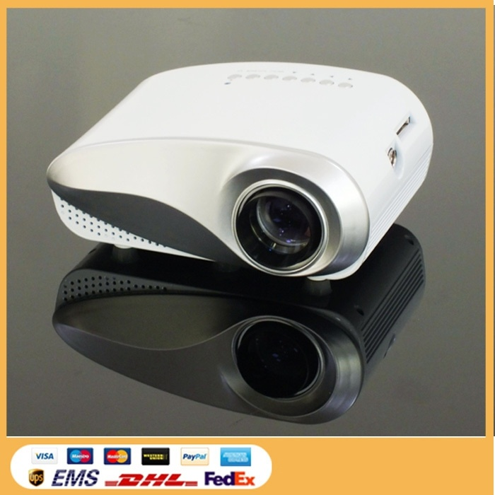 Yi-800 Portable LCD Classics LED Mini Projector 60 Lumens Beamer for TV Movie Video Home Cinema HDMI USB VGA AV ATV Projetor