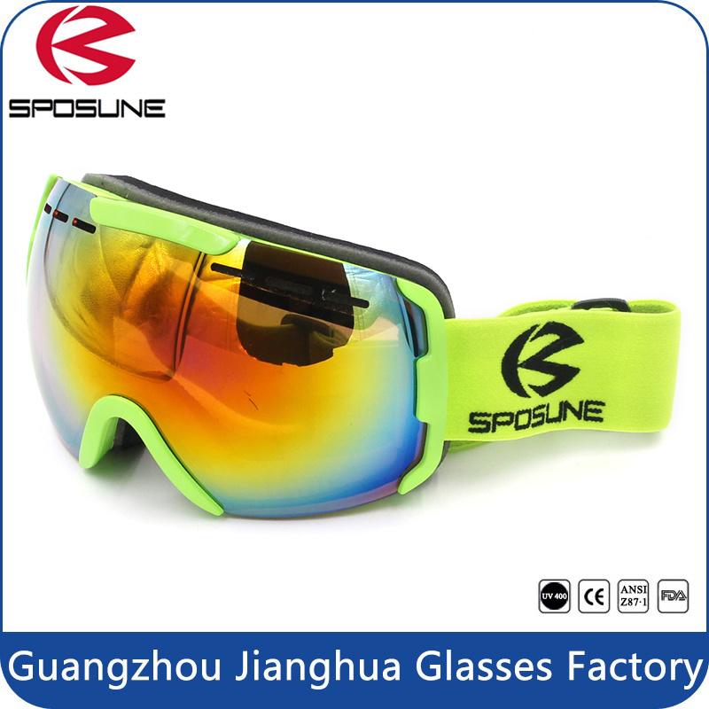 Ce Standard Wide Peripheral HD Vision Anti-Fog Double Lens UV400 Skiing Ski Goggles