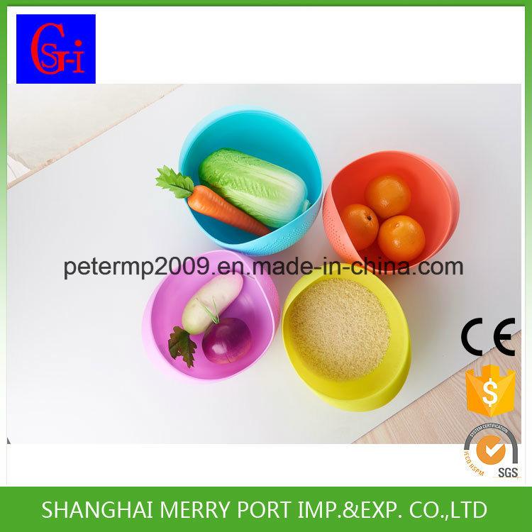 Plastic Rice Washing Drain Picnic Plastic Basket