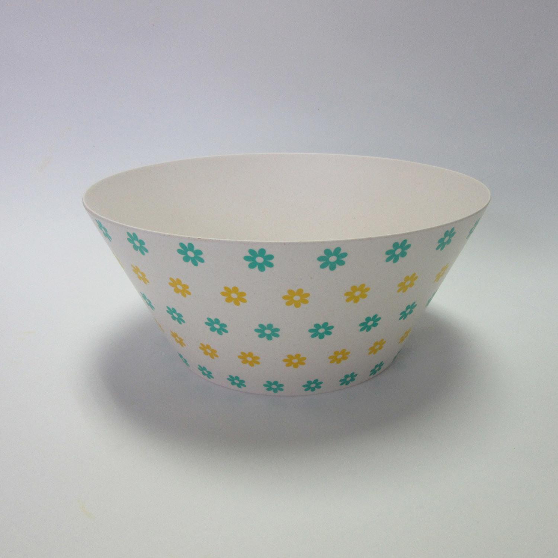 Bamboo Fiber Big Bowl Salad Bowl Soup Bowl Paisley Design Tableware