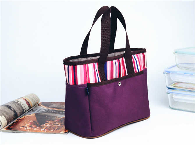 600d Figured Cloth Multifunction Handle Lunchbag