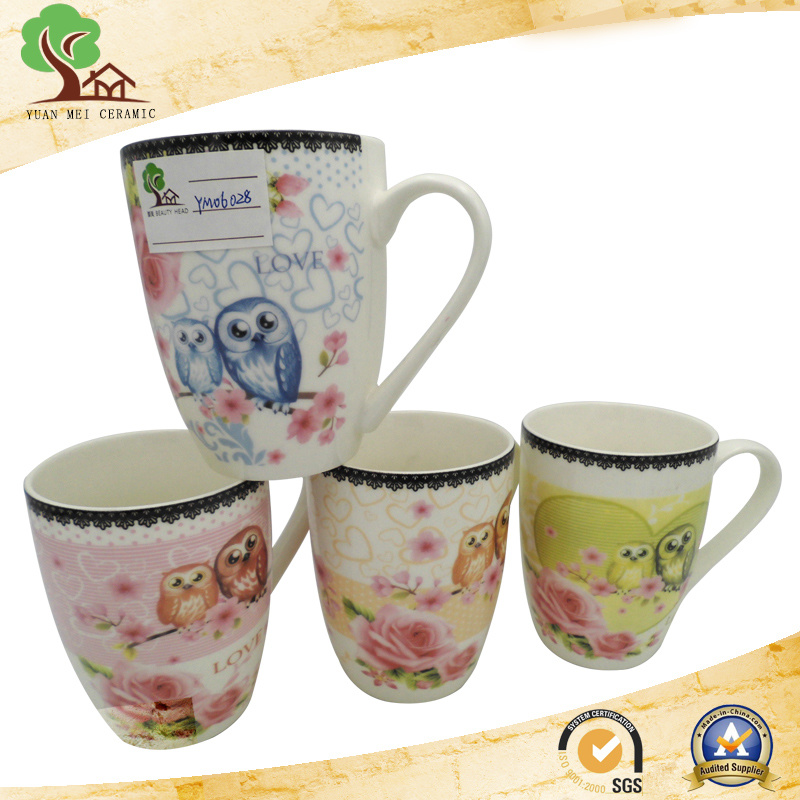 New Design Colorful 13 Oz Ceramic Milk, Coffee Mug