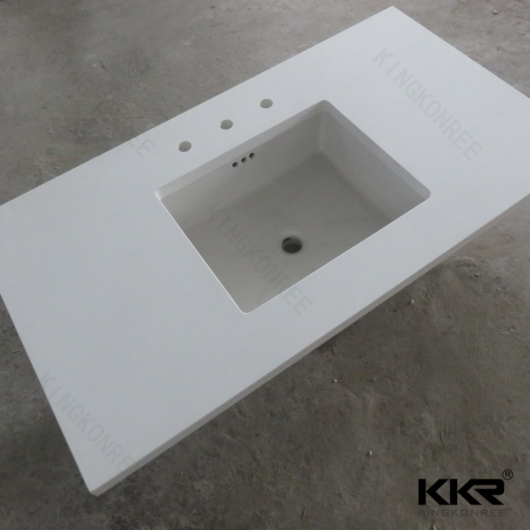 Kkr New Design Solid Surface Resin Stone Kitchen Countertop