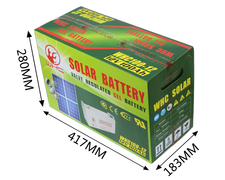 High Capacity 12V 100ah Solar Gel Battery for Solar System