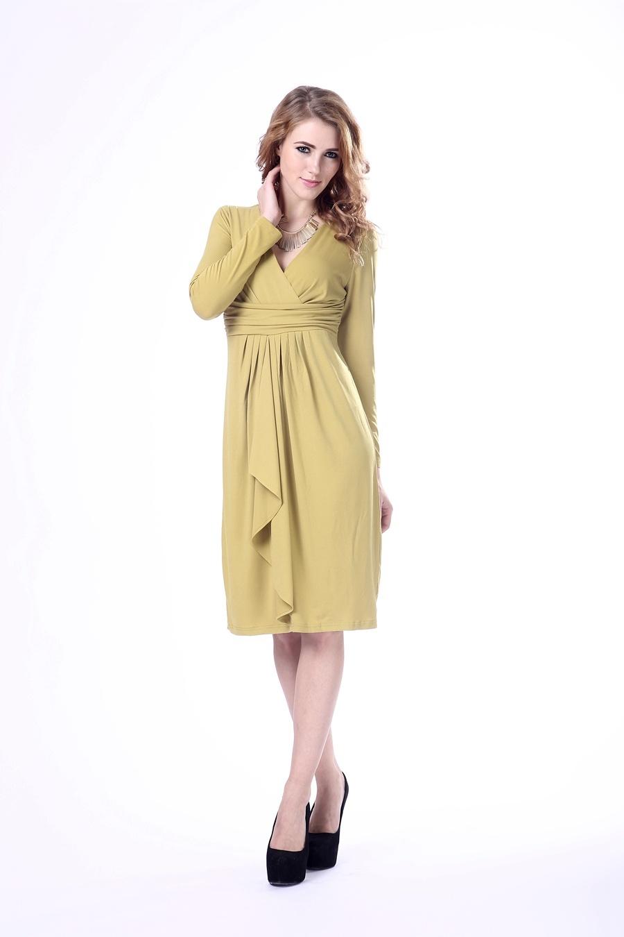 Lady Dress Long Sleeve Gentle Women Dress
