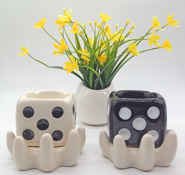 Ceramic Flower Pot Sweet Hanging Garden Design with Planter for Succulent