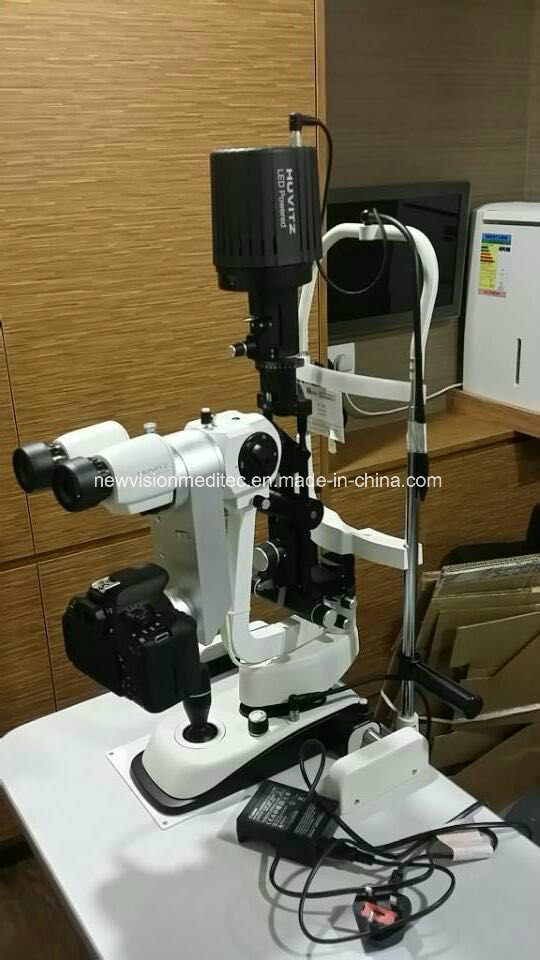 Integrated Beam Splitter and Camera Adapter for Huvitz, Cso and Reichert Slit Lamps