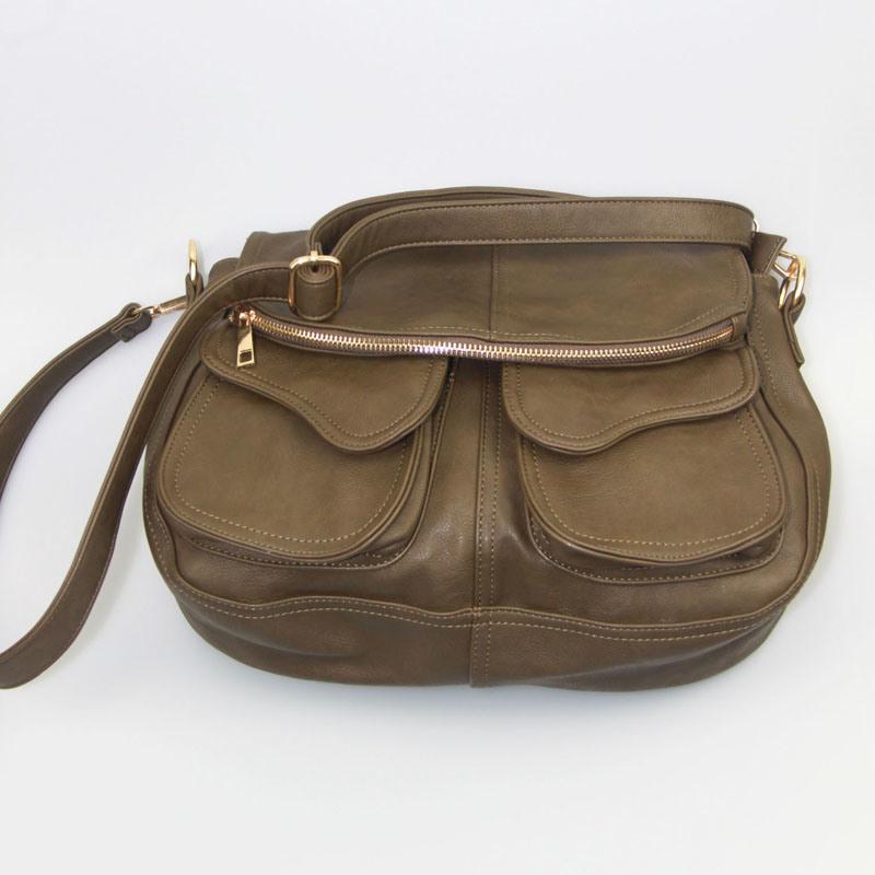 Women PU Shoulder Bag Black Ladies PU Handbag Fashion Accessory Supplier