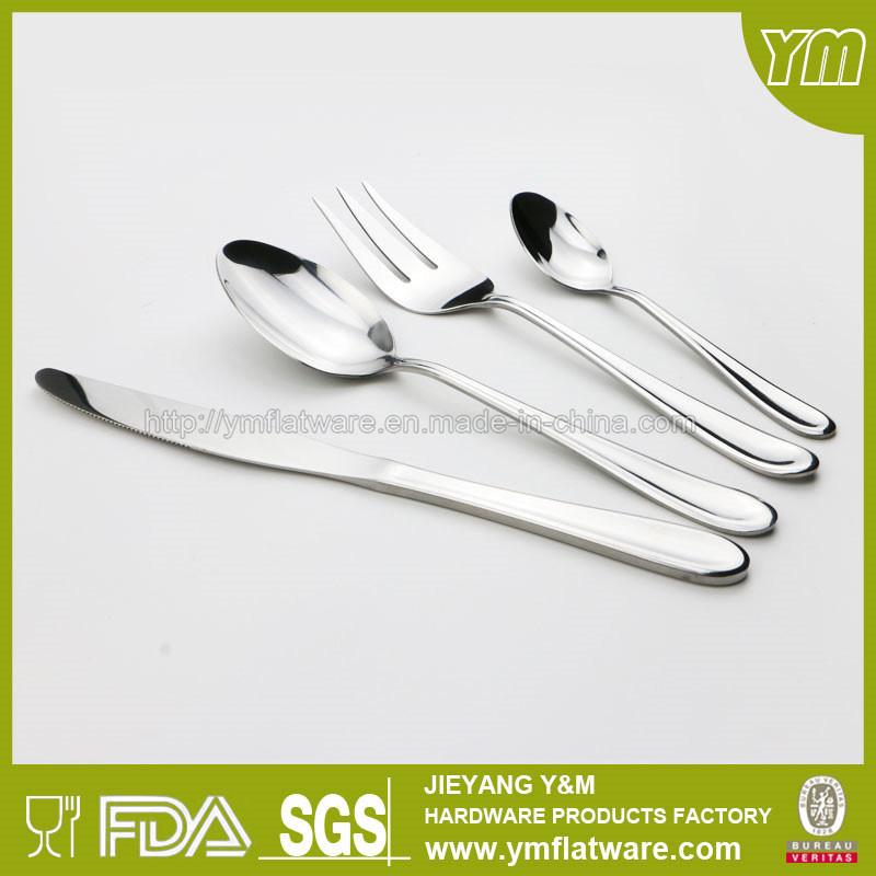 Electroplate Silver Stainless Steel Cutlery Set Custom Flatware