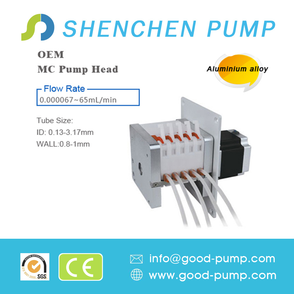 Mc5 (Alloy) Stepper Motor Low Price Mini DC Peristaltic Pump for Liquid Transfer