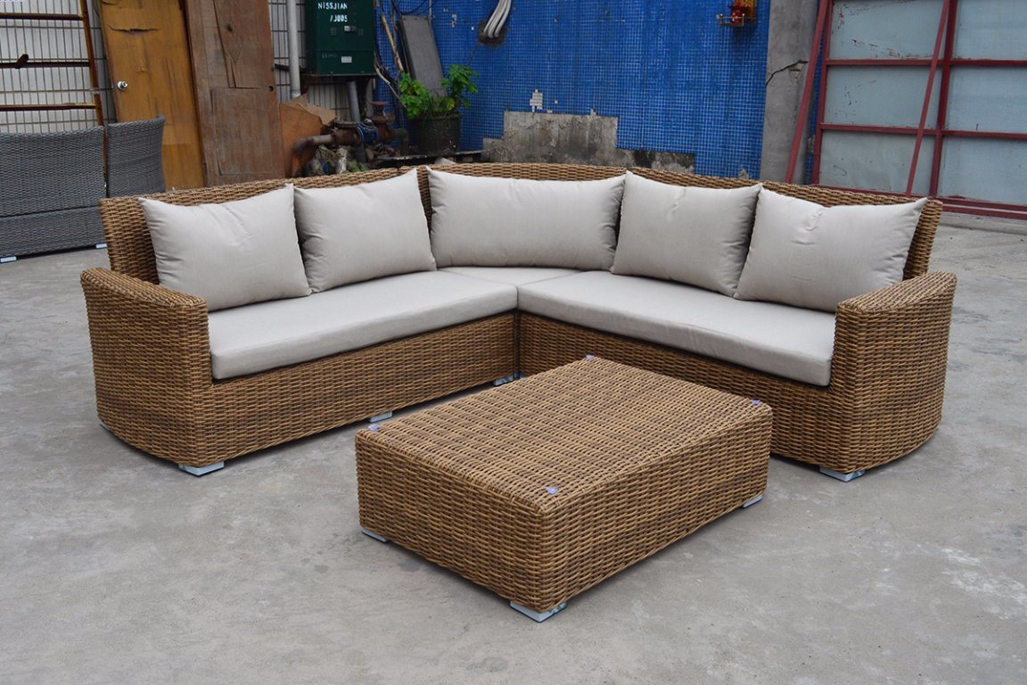 Garden Patio Wicker Rattan Outdoor Furniture, Holga Sectional Set Outdoor Furniture (J546)