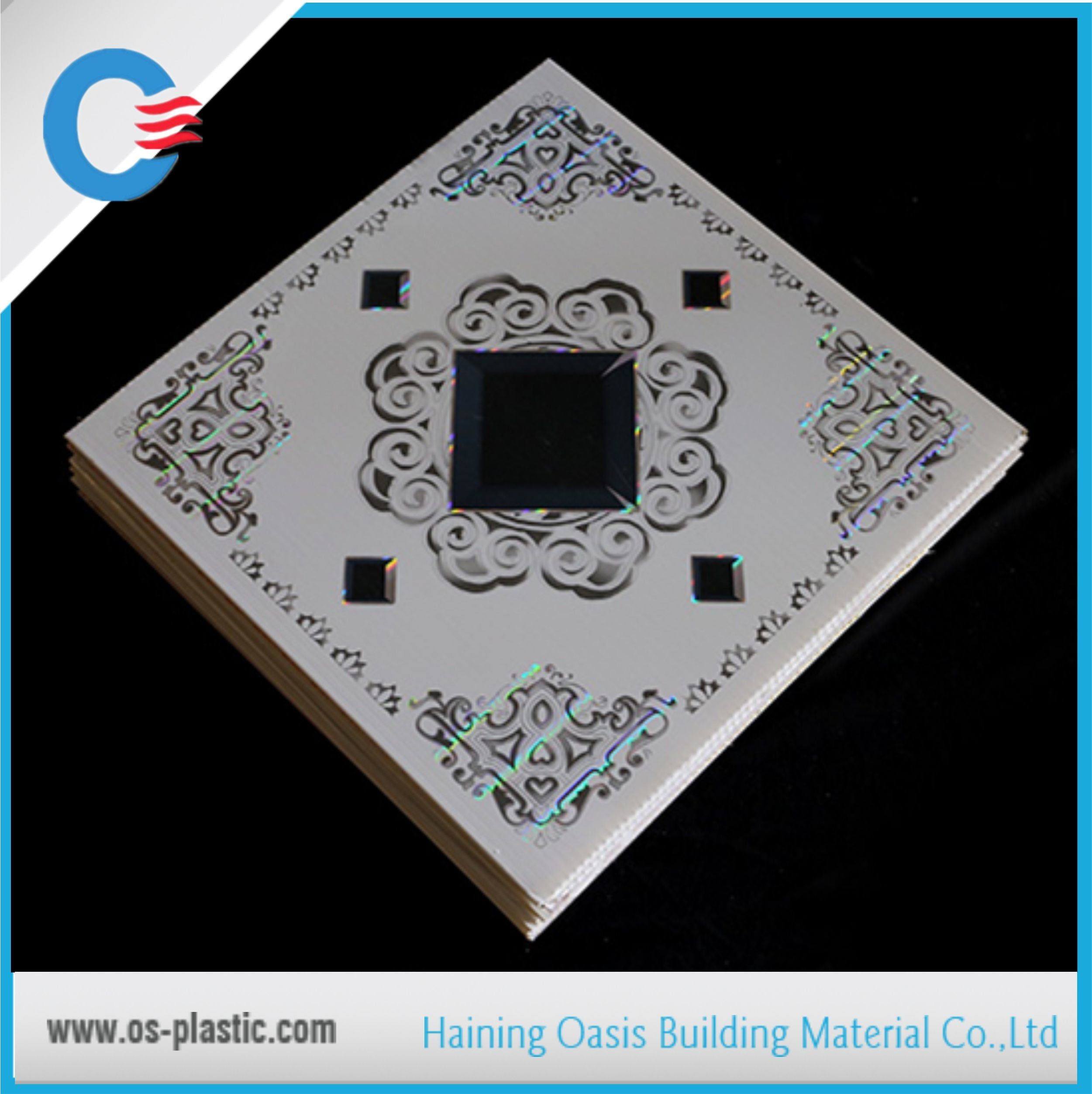 595*595*7mm PVC Ceiling Tiles for Iraq