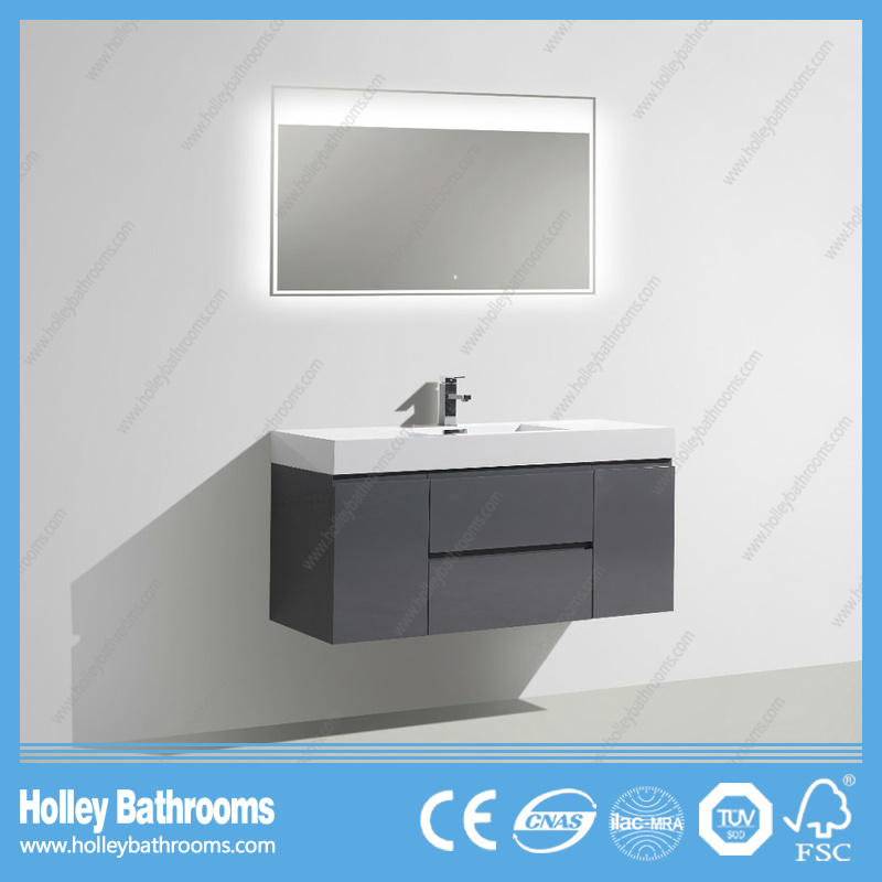 Popular High Quality LED Lamp Bathroom Unit with 2drawers and 2 Doors
