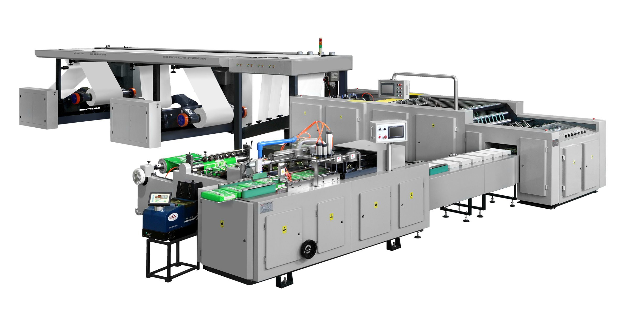 High Speed Double Rotatable Roll Copy Paper Cutting Machine