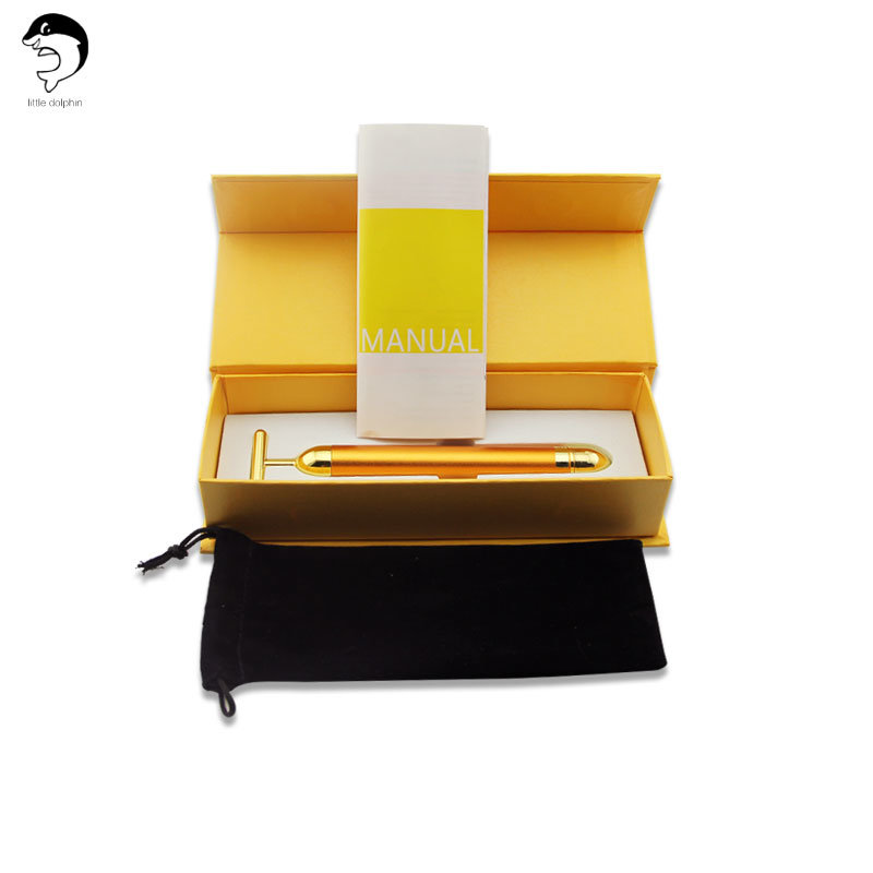 Hot Sale 24k Golden Beauty Bar Vibrator Massage Beauty Equipment