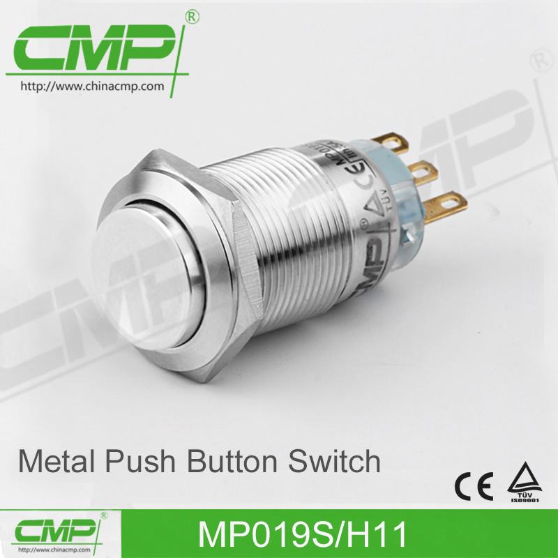 19mm Waterproof Momentary Push Button Reset Switch
