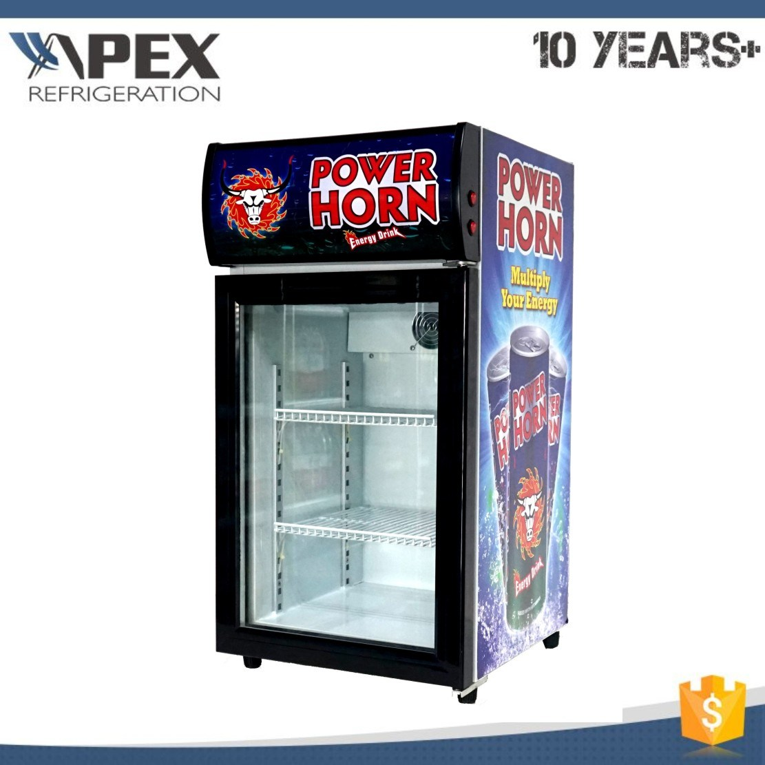 50L Glass Door Counter Top Cooler Display Chiller