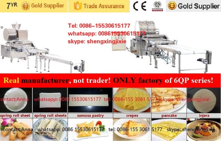 Automatic Spring Roll Sheets Machine/Samosa Pastry Machine /Crepes Machine/Injera Making Machine (real factory not trader)