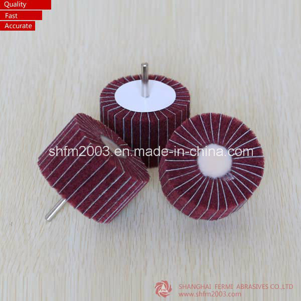 50*25*6mm Non-Woven Flap Wheel with Shaft (Professional Manufacturer)