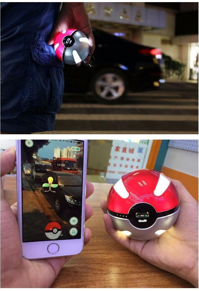 Pikachu Magic Ball Pokeball Power Bank Pokemon Go Portable Power Bank