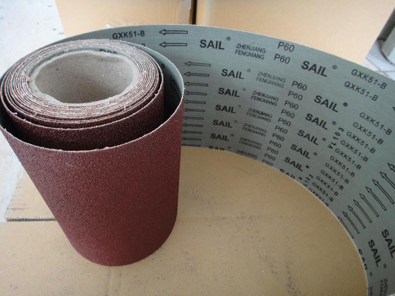 Aluminum Oxide Grinding Tool Abrasive Cloth Sail Gxk51-B 60#