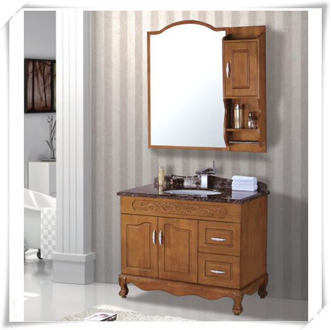 High End Wooden Bathroom Vanity with Countertop