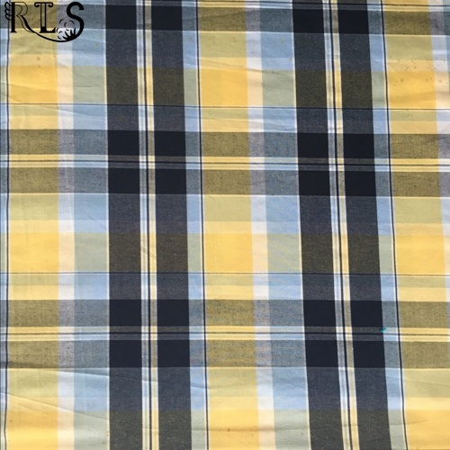 100% Cotton Poplin Woven Yarn Dyed Fabric for Shirts/Dress Rlsc40-6
